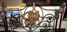 19th CENTURY PAINTED IRON BED FRAME