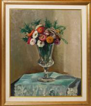 "Rafael BATALLER GIRALT (1920) ""Jarrón de flores"" óleo sobre lienzo 65x55 cm."
