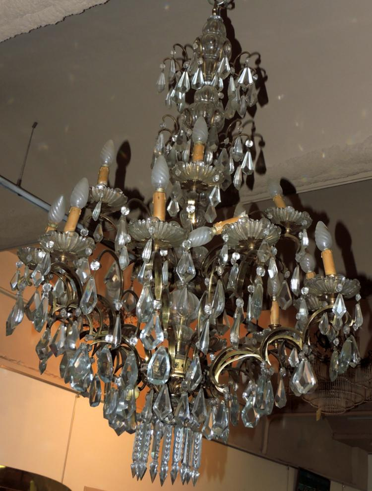 Two tier glass bead chandelier - Chandelier glass beads ...
