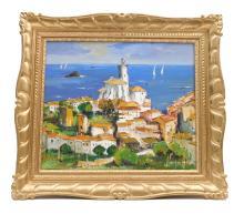 "Joan SARQUELLA OLIVERAS (1956) ""Cadaqués"" óleo sobre lienzo 39x46 cm."