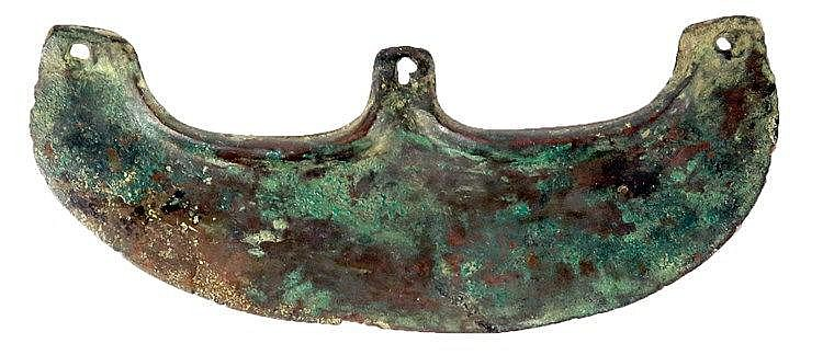 A CANAANITE BRONZE EPSYLON AXE 3rd millennium BC. Blade slightly repaired but in very good condition