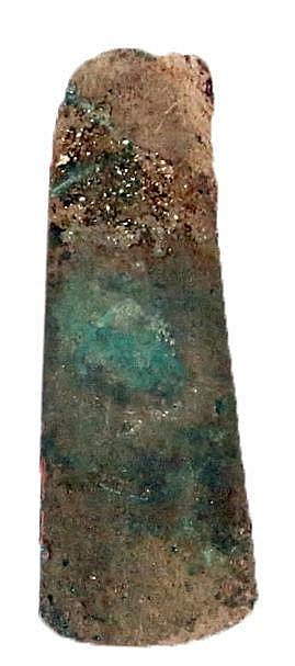 AN EARLY BRONZE AGE COPPER AXE Ca. 3000 BCE. With nice patina and in very good condition. 12.3