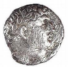HALF SILVER SHEKEL OF TYRE,  1st century CE. 5.0 gr. Obverse: Head of Melqart to r. Reverse: Eagle s
