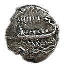 SIDON, 4th CENTURY BCE Silver 1/8 shekel, 0.7 gr. Obverse: War galley to l. Reverse: Persian ki