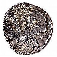 PAMPHYLIA, ASPENDOS, 410 – 385 BC Silver stater, 10.8 gr. Obverse: Two naked athletes wrestling