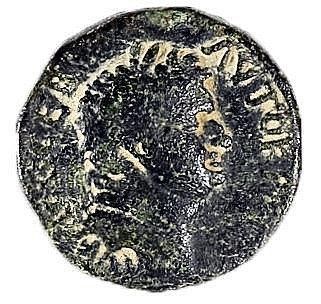 AGRIPPA II, 50 – 100 CE Bronze 24 mm. Obverse: Bust of Titus to r. Reverse: Nyke advancing to r