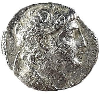 ANTIOCHUS VII, 138 – 129 BCE Silver tetradrachm, 13.4 gr. Mint of Tyre. Obverse: Head of Antioc
