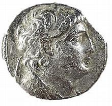 ANTIOCHUS VII, 138 – 129 BCE Silver tetradrachm, 13.4 gr. Mint of Tyre. Obverse: Head of Antioc
