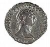 TRAJAN, 98 – 117 CE Silver tetradrachm, 15.0 gr. Mint of Antiochia ad Orentum. Obverse: Bust of