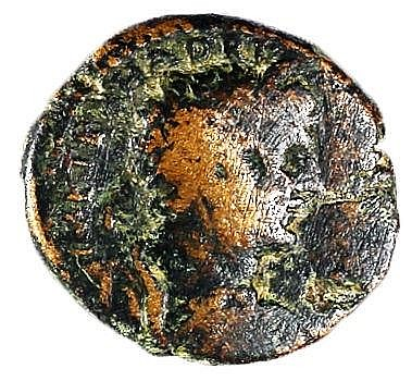 CAESAREA MARITIMA HADRIAN, 117 – 138 CE Bronze 27-29 mm. Obverse: Bust of Hadrian to r. Re