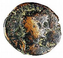 CAESAREA MARITIMA HADRIAN, 117 – 138 CE Bronze 27-29 mm. Obverse: Bust of Hadrian to r. Re