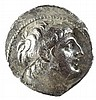 ANTIOCHUS VII, 138 – 129 BCE Silver tetradrachm, 13.3 gr. Mint of Tyre. Obverse: Head of Antioc