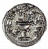 FIRST REVOLT AGAINST ROME, 66 – 73 CE Silver shekel, year two, 14.4 gr. Obv.: Chalice. Paleo-He