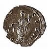 HADRIAN, 117 – 138 CE Silver denarius, 3.2 gr. Obverse: Head of Hadrian to r. Reverse: Aeq