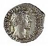 ANTONINUS PIUS, 138 – 161 CE Silver denarius, 3.6 gr. Obv.: Head of Pius to r. Rev.: Annona sta