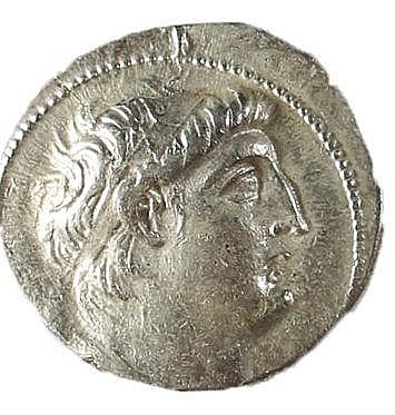 ANTIOCHUS VII, 138 – 129 BCE Silver tetradrachm, 13.0 gr. Mint of Tyre. Obverse: Head of Antioc