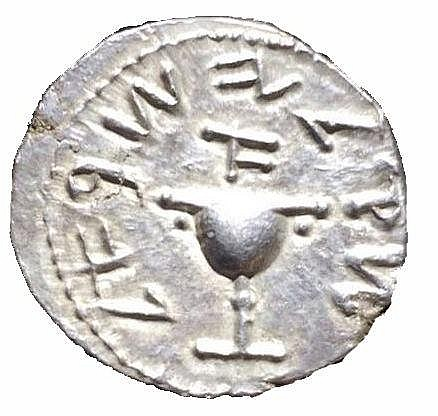 FIRST REVOLT AGAINST ROME, 66 – 73 CE Silver shekel, year one, 14.2 gr. Obv.: Chalice. Paleo-He