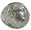 DEMETRIUS II, 129 – 125 BCE. Silver tetradrachm, 13.6 gr. Mint of Tyre. Obv.: Head of Demetrius