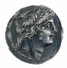 ANTIOCHUS IX, 114 - 95 BCE Silver tetradrachm, 16.5 gr. Obverse: Head of Antiochus to r. Revers