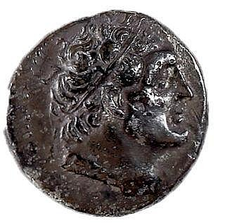 PTOLEMY II, 285 – 246 BCE Silver tetradrachm, 13.6 gr. Obverse: Head of Ptolemy I to r. Reverse