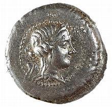 MACEDONIA UNDER ROMAN RULE 167 – 148 BCE Silver tetradrachm, 17 gr. Obverse: Macedonian shield