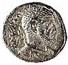 JERUSALEM, MACRINUS, 217 – 218 CE Silver tetradrachm, 13.4 gr. Obverse: Bust of Macrinos t