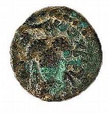 ELEAZAR THE PRIEST, 132 CE. Bronze 18.0 mm. Obverse: Bunch of grapes. Paleo-Hebrew inscription: