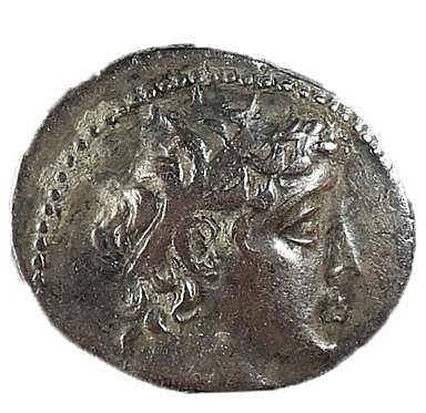 DEMETRIUS II, 129 – 125 BCE. Silver tetradrachm, 13.7 gr. Mint of Tyre. Obv.: Head of Demetrius