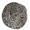 CRUSADER KINGDOM OF JERUSALEM Baldwin III, 1143 – 1163 CE. Silver Billon, 0.8 gr. Obverse: Cros