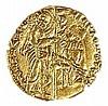 VENETIA, MICHELE STENO, 1400 – 1413 CE Gold ducat, 3.4 gr. Obverse: Kneeling doge receiving fla