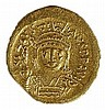 JUSTIN II, 565 – 578 CE Gold Solidus, 4.5 gr. Obverse: Bust of Justin II facing. Reverse: Angel