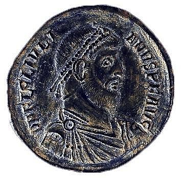 JULIANUS THE APOSTATE, 360 – 363 CE Bronze 27.5 mm. Obverse: Bust of Julianus to r. Reverse: Bu