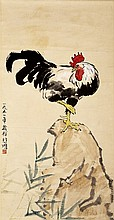 * ROOSTER ON A ROCK