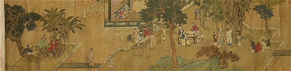 UNKNOWN ARTIST SCHOLARS IN A GARDEN