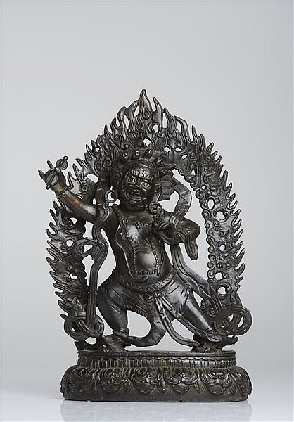 A BRONZE FIGURE OF VAJRAPANI