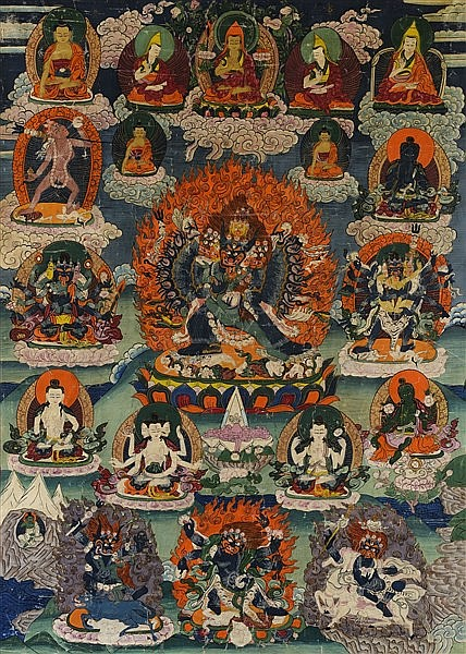 A THANGKA OF YAMANTAKA