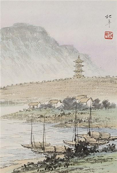 YUAN SONGNIAN (1895-1966) RIVER LANDSCAPE