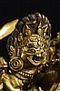 A GILT BRONZE FIGURE OF MAHAKALA