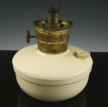 Cream Bakelite kerosene lamp base - Supor Aladin made in Britain
