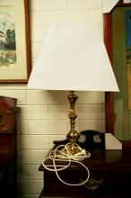 Brass lamp with light shade