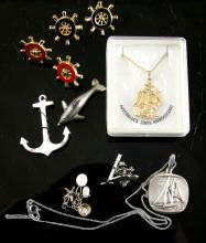 Bag of nautical jewellery