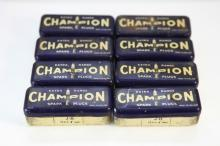 8x Champion Spark Plug tins with Leggets Dynamic Spark Plugs