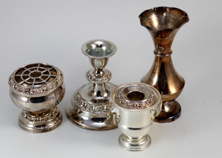 Silver japanese candlesticks