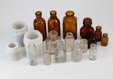 Collection of small bottles and vials