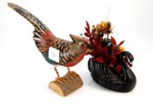 2x Vintage birds