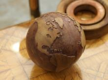 Wooden globe of the world