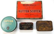 4x Vintage tins