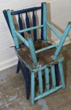 2x Wooden children's chairs