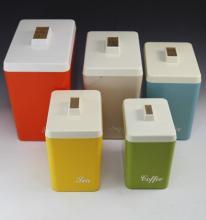 Retro canister kitchen set