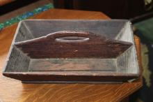 Wood cutlery carrier